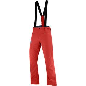 Salomon Stance Pantalones Hombre, rojo